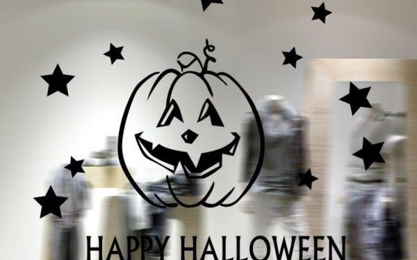 Samolepka na okno Happy Halloween!