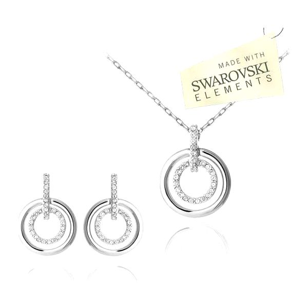 Luxusní set s kamínky Swarovski elements
