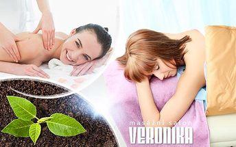 20minutový rašelinový nebo parafínový zábal + 40minutová masáž zad, krku a šíje pro úlevu od bolesti.