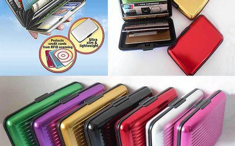Hliníkové pouzdro na kreditní karty - Aluma wallet