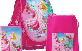 Anatomický školní SET ABB batoh Disney Princezny Růženka