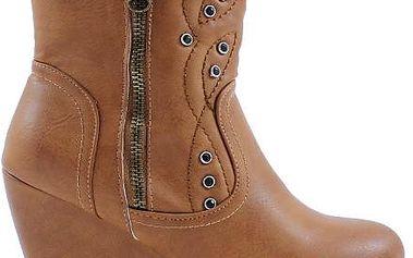 COLORFUL Podzimní boty na klínku NT1014-1CA 40