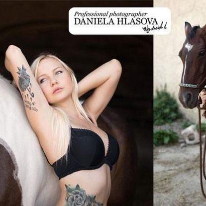 Glamour focení s koňmi nebo v ateliéru v akci!