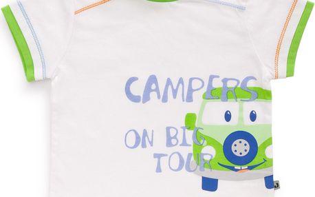Chlapecké tričko s autíčkem - bílé