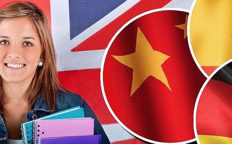 60 hodin online studia angličtiny, španělštiny, němčiny nebo čínštiny