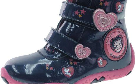 Dívčí kotníkové boty Betty Boop - tmavě modré