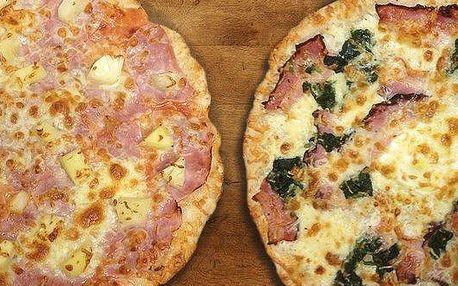 Dvě lahodné pizzy dle výběru