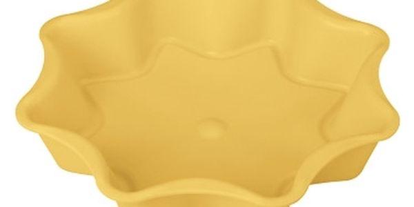 Forma na koláč hvězda DELÍCIA SILICONE ø 28 cm, žlutá