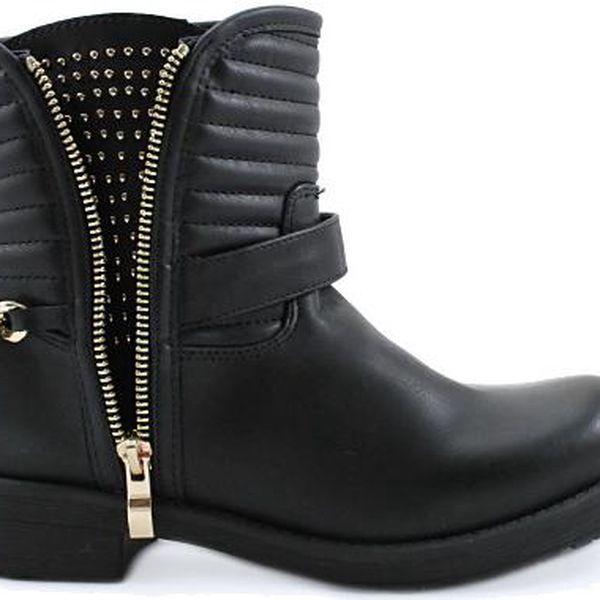 BLESS Černé podzimní kotníkové boty 1546B 40