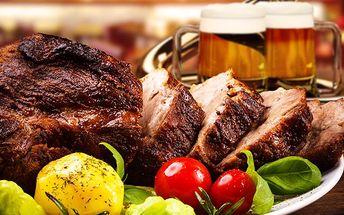 400 g šťavnatého hovězího roastbeefu + tatarka a příloha dle vlastního výběru pro 2 až 3 osoby!