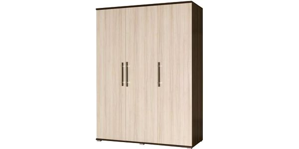 Třídveřová šatní skříň do ložnice Oswaldo – provedení jasan