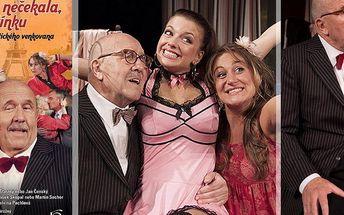 """Vstupenka na divadelní komedii """"V Paříži bych tě nečekala, tatínku!"""" 18.10.2015 v Plzni!"""