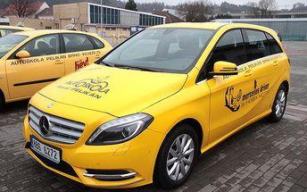 Autoškola - balíček 6 kondičních jízd ve 3 lekcích s Mercedesem