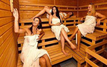 90 minut wellness a sauny pro 2 až 4 osoby