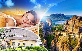České Švýcarsko! 3-6 dní pro 2 osoby s polopenzí, saunou, sjezdovkou 500 m od penzionu a platností do 31.8.2016!