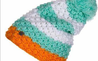 Woox Angie Beanie Dámská zimní čepice bílá-tyrkysová
