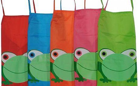 Dětské zástěrky se žabkou v pěti barvách