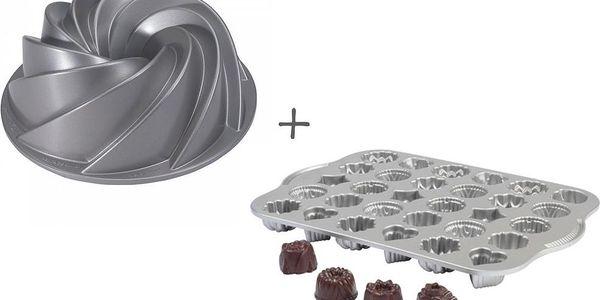 Set formy na bábovku Rondo a formy na čajové pečivo a čokoládu - doprava zdarma!