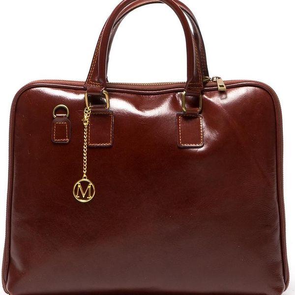 Kožená kabelka Dominica 375 Marrone - doprava zdarma!
