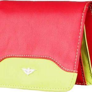 Peněženka WOOX Moneta Rubra - červená-žlutá
