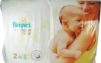 Pampers Premium Care 2 mini 3 - 6 kg 72 kusů