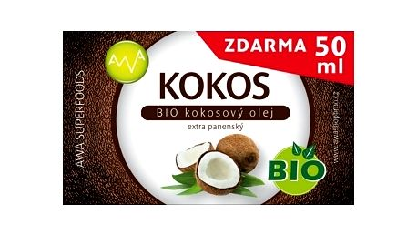 AWA superfoods BIO Kokosový olej 400ml