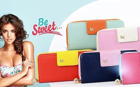 Dámské peněženky Be Sweet včetně poštovného! Na výběr 5 barev, 16 kapsiček, syntetická kůže!
