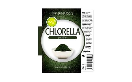 AWA superfoods Chlorella prášek 200g