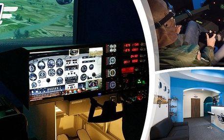 40 min. na profesionálních leteckých simulátorech s občerstvením, nealko nápoji a pamětní fotkou.
