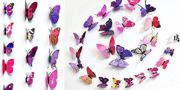 3D motýlci – dekorativní samolepky i…