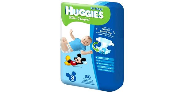 HUGGIES Ultra Comfort JUMBO BOY Disney, vel. 3, 56 ks (5 - 9 kg)
