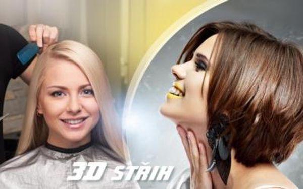 3D STŘIH s možností BARVY či MELÍRU nebo PĚNOVÁ TRVALÁ pro všechny délky vlasů + KERATIN na Praze 1!