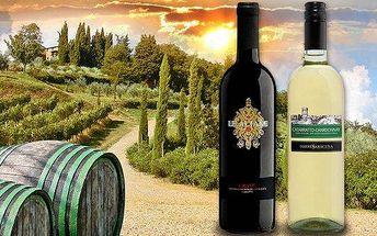 Balení 6 italských vín z Toskánska a Sicílie