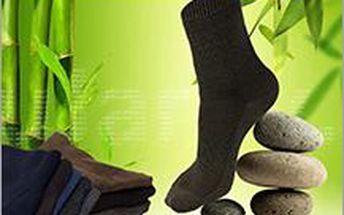 10 párů bambus. ponožek