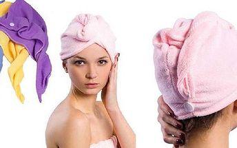 Rychleschnoucí turban na mokré vlasy
