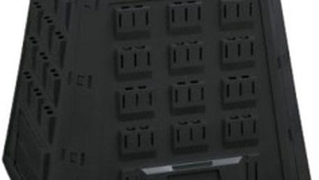 KAXL EVOGREEN Plastový kompostér 400l, černý černý, kompostér plastový