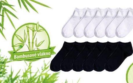 Kotníkové ponožky s bambusovým vláknem - 12 párů