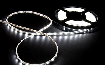 Led pásek bílý - 5 metrů - LED 3528 + trafo