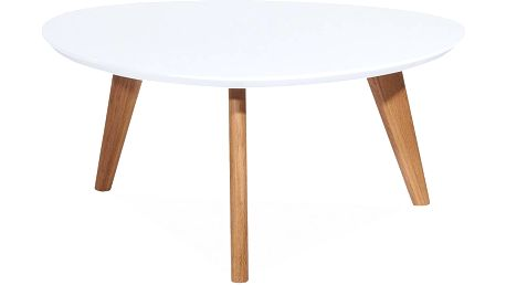 Konferenční stolek Milan 80x40 cm, bílý - doprava zdarma!
