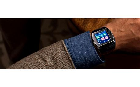 Smart hodinky s telefonem Space Elite, bílá