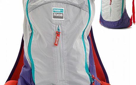 Sportovní batoh Puma Faas - šedá/fialová,/červená