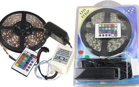 Lumenmax 3528 - RGB LED pásek - 5 metrů. Kompletní sada.