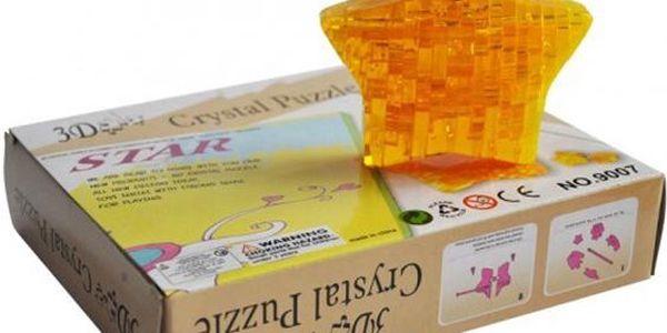3D Crystal puzzle HVĚZDA
