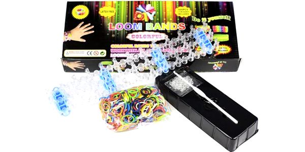 Loom bands gumičky sada KOOL 600 ks, stav, kompletní příslušenství