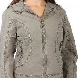 Pohodlná bunda volného střihu šedá