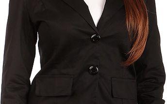 Krásné sako s krajkou černá
