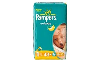 PAMPERS New baby 1 newborn 2-5 kg 43 kusů