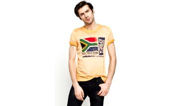 U.S. POLO - T-shirt South Africa - oranžová, S
