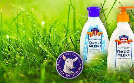 Kosmetický balíček z kozího mléka, Sada kosmetiky