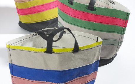 Sada 3 plátěných košíků Marie Lines, 22 cm - doprava zdarma!